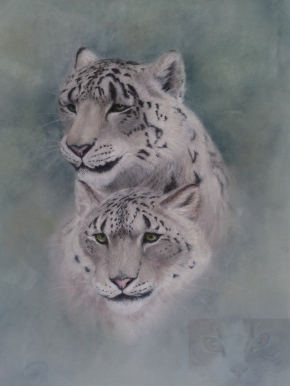 snow leopards watermarked